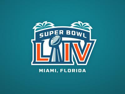 Super Bowl LIV illustration branding design sports branding super bowl nfl football logo sports