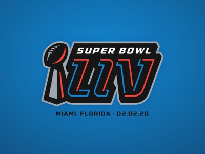 Super Bowl LIV part 2 super bowl sports branding sports nfl logo illustration football design branding