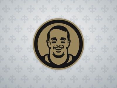 Drew Brees face drew brees nfl saints illustration branding sports branding sports
