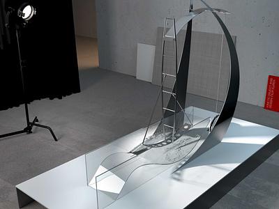 Aedificium 9197 steel sculpture design