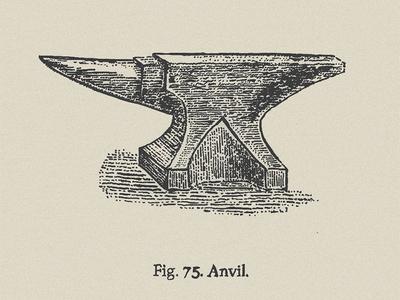 Blacksmith Series - Anvil anvil blacksmith pen and ink illustration india ink crosshatch engraving stippling old school old fashion