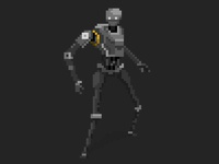 K-2SO Pixel Art