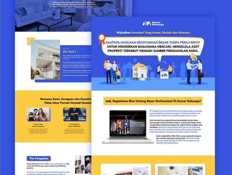Landing Page -  Kamar Keluarga landing page design copywriting content marketing website design ux ui