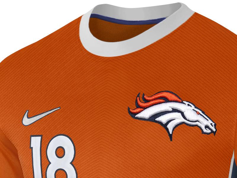 promo code ed3cb 1c814 Peyton Manning Broncos Jersey by Nerea Palacios   Dribbble ...
