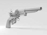 Stylized revolver