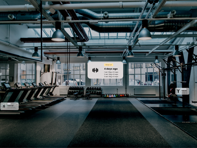 Gym - Augmented reality ar glasses gym augmented reality ar design workout exercise