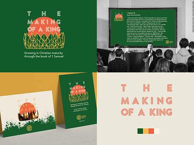 The Making of a King branding typogaphy illustraion church design graphic design design