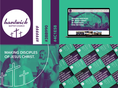 Hardwick Baptist Church logotype typogaphy color colour logodesign logo branding