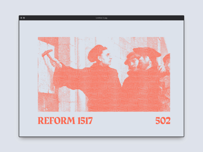 Reform 1517 502 old painting colour church church design graphic design reformation heritage typography illustration