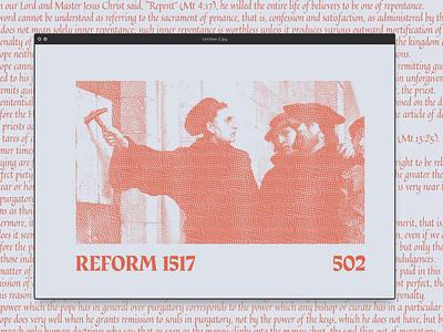 Reform 502 Mk 2 design evolution church design typography colours painting illustration reform