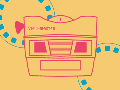 View-Master icon design retro illustration graphic design design