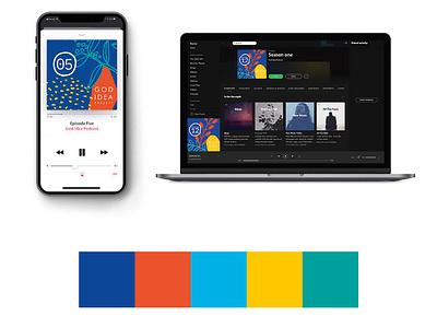 God Idea Podcast application icon branding website ui ux web app flat design typography