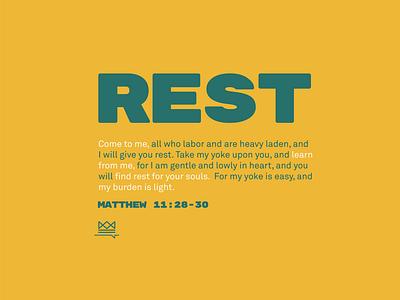 Rest church design icon flat logo branding graphic design design typography illustration