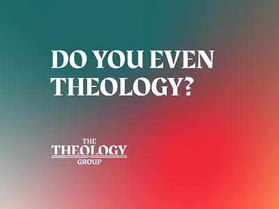 Theology group slogan church design icon branding design graphic design typography illustration