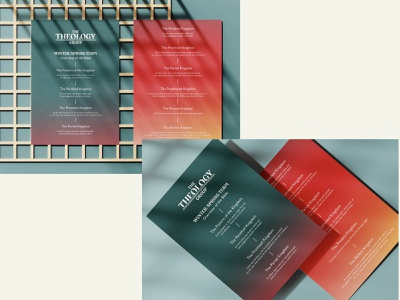 Theology Group print materials church design vector printdesign graphic design design typography
