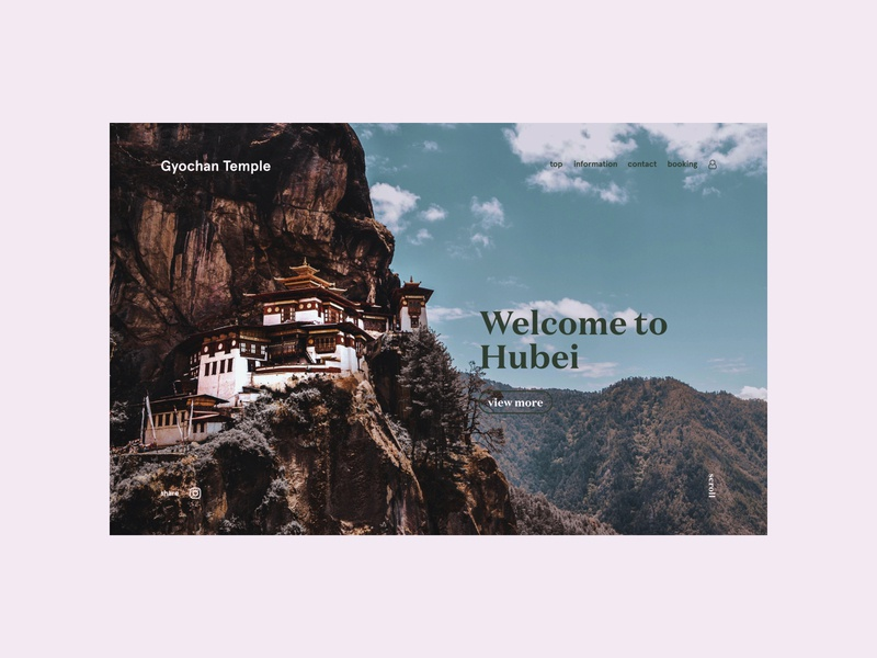 Chinese temple journey trip temple mountain travel china magazine branding advertising typography design web site