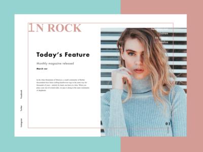 magazine ad site magazine branding artist advertising model ui typography web design site