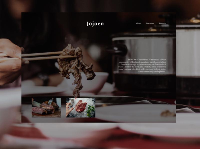 meat restaurant meat advertising web design site