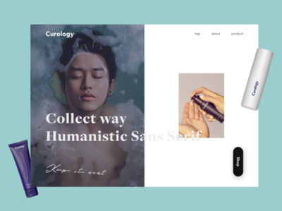 Cosme for man & woman beauty skin cosmetic consept branding model typography web design site