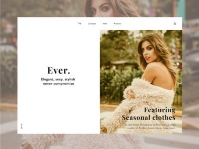 fashion company beach magazine artist beauty branding advertising model typography web design site