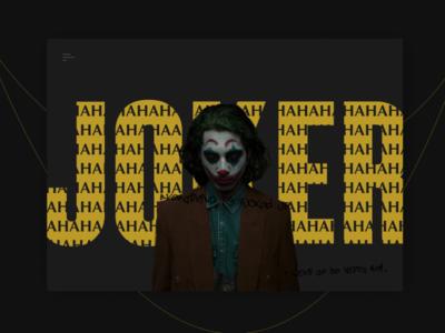 Promotion site smile clown joker film movie model advertising web design site
