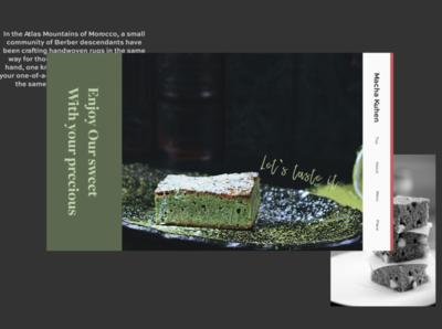 cake snow winter magazine japan tea green branding design site web design web