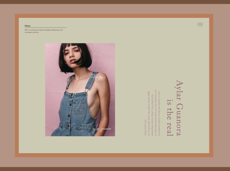 promote an artist girl woman artist magazine beauty model branding advertising typography web design site