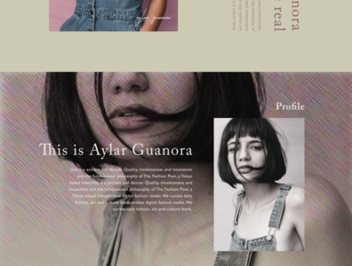 Promote an artist woman girls artist magazine beauty model branding advertising typography web design site