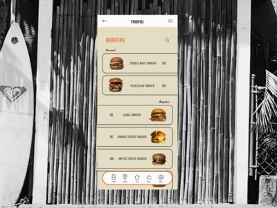 menu page burger hunburger beach ui magazine model branding advertising typography web design site