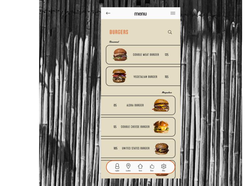 UI menu page menu hawaiian hawaii aloha burgers burger beach ui branding advertising typography web design