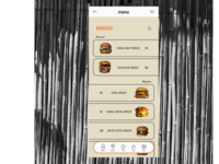 UI menu page