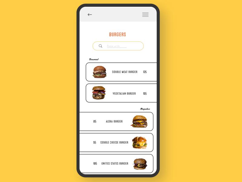 UI burger burgers burger ui beauty model magazine branding advertising typography web site design