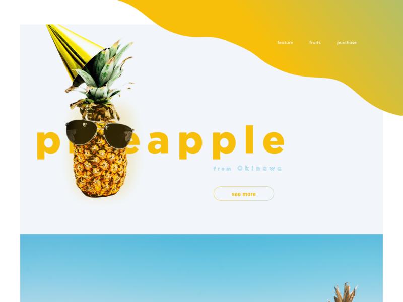 pineapple energy energetic site advertising sunglass gradation shadow fruity beach resort yellow web pineapple summer fruit