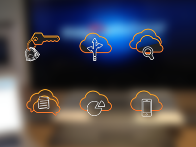 Oe Icons icons clouds ios iphone key mobile chart