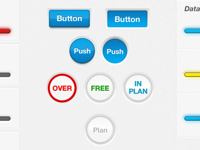 UI Elements Set-1 ui elements buttons modern 3d mobile android ios