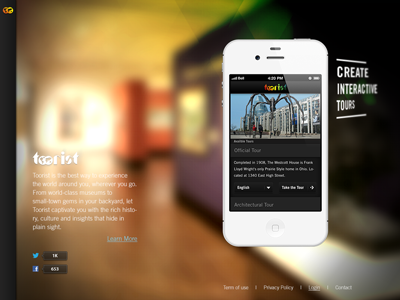Toorist Website website ui ux marketing web design