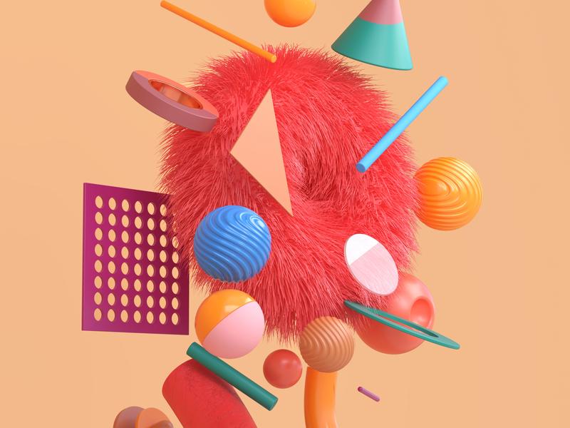 3D Collection ux design interface render cinema4d design art concept 3d motion graphics ux ui