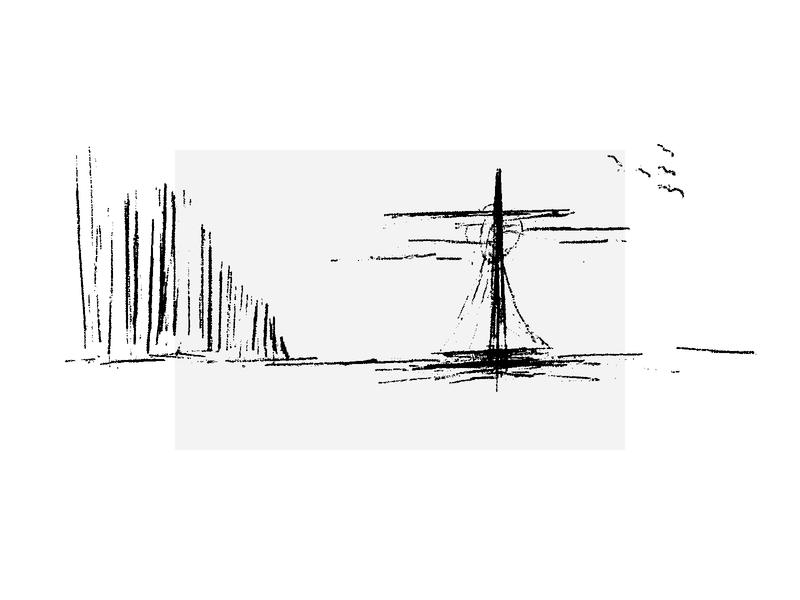 Melting Inside bw black  white illustration ocean sea glacier ship