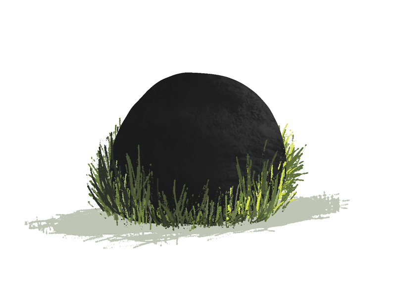 a rock with no friends rock illustration