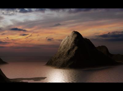 Procedural Island - Blender (need some lighting fix, i guess) island procedural blender3d blender