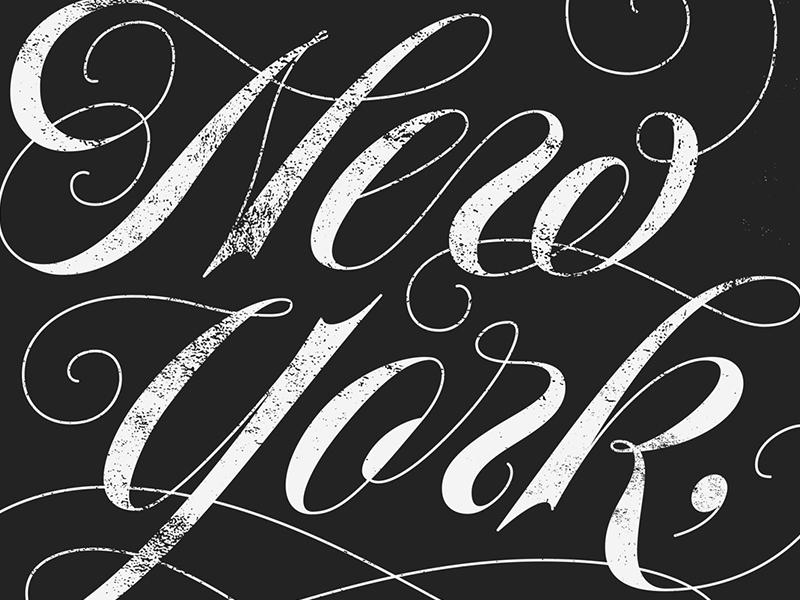 Fuhgettaboudit carnase lubalin poster nyc new york lettering script