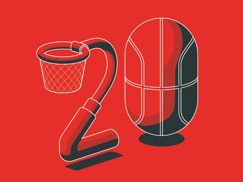 20 ball basket number twenty basketball
