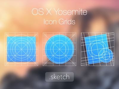 macOS Icon Layout Grid (.sketch) sketch icon grid osx yosemite template mac icons