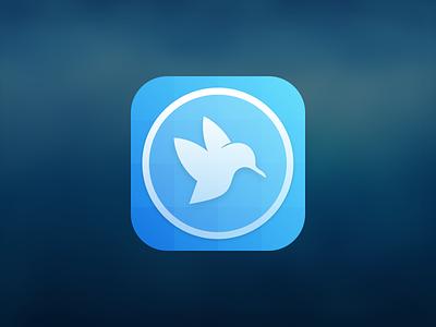 Hummingbird Icon hummingbird ios icon twitter grid sketch iphone gradient grid glyph bird