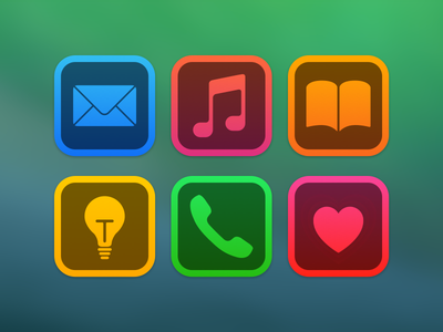 Colourful Icons icons ios colourful iphone