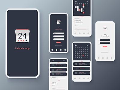 Calendar App application logo web app icon ux ui flat design
