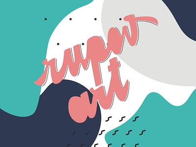 RupovArt Lettering flat typography artwork calligraphy illustration vector design lettering