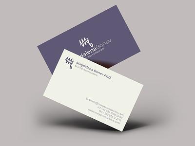 Business Card Magdalena Bonev flat business card design branding design businesscard branding logo design