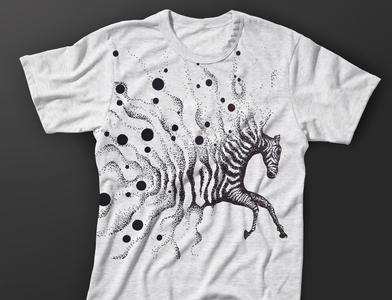 Zebra T-shirt branding illustraion design