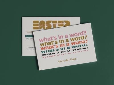 What's in a word? mustard typography graphicdesign campaign art church design church word easter